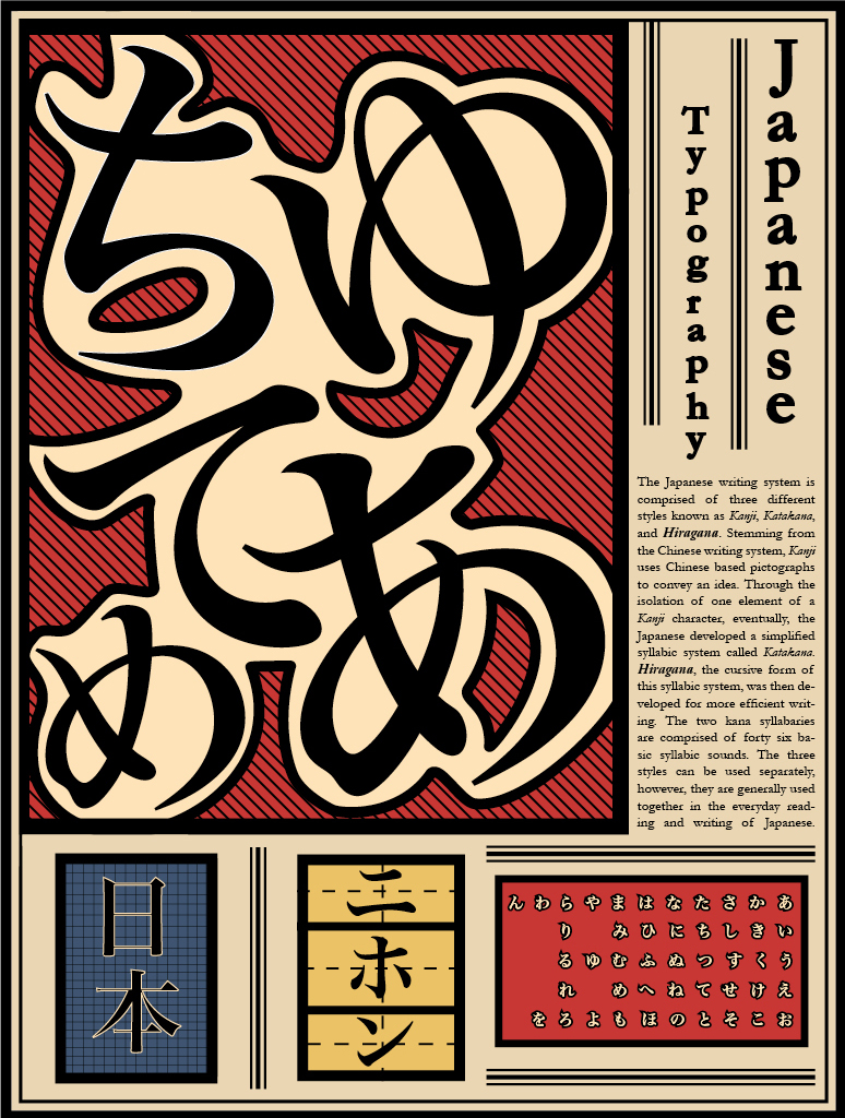 japanese typography poster hiragana