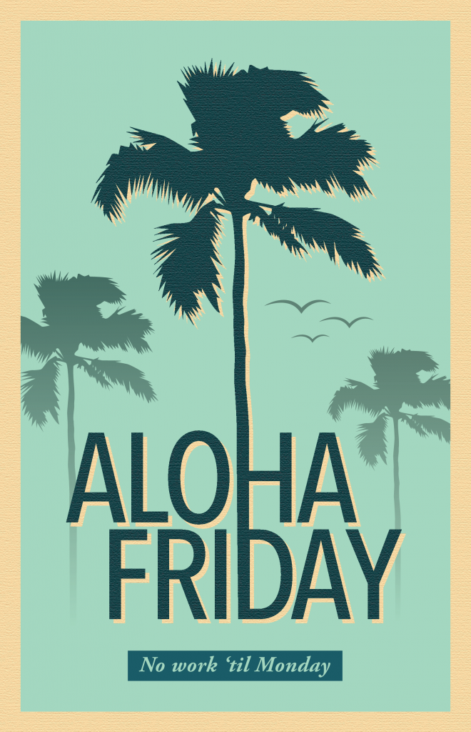 Coconut Tree Aloha Friday
