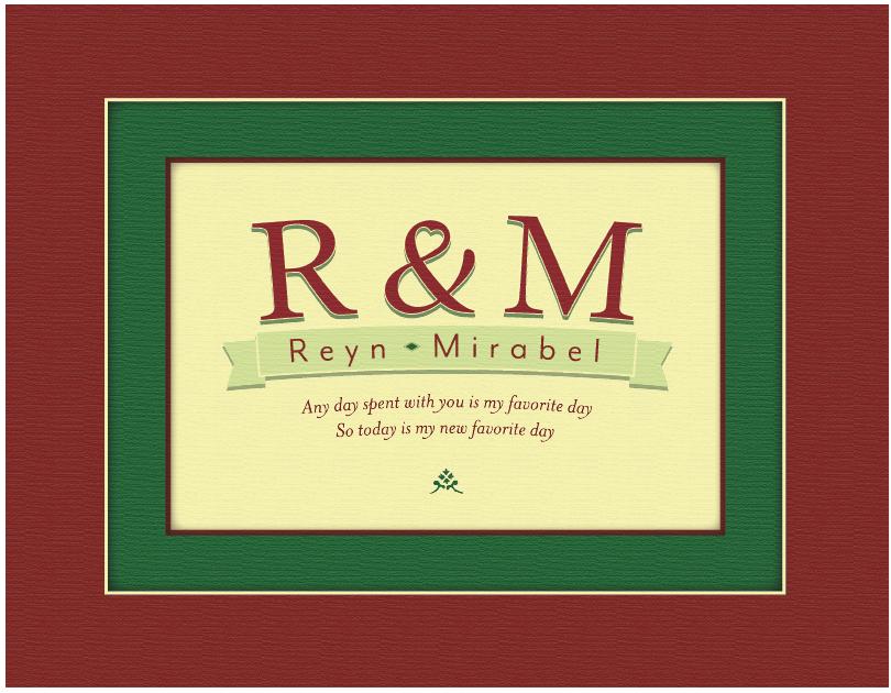 R & M Colored Print