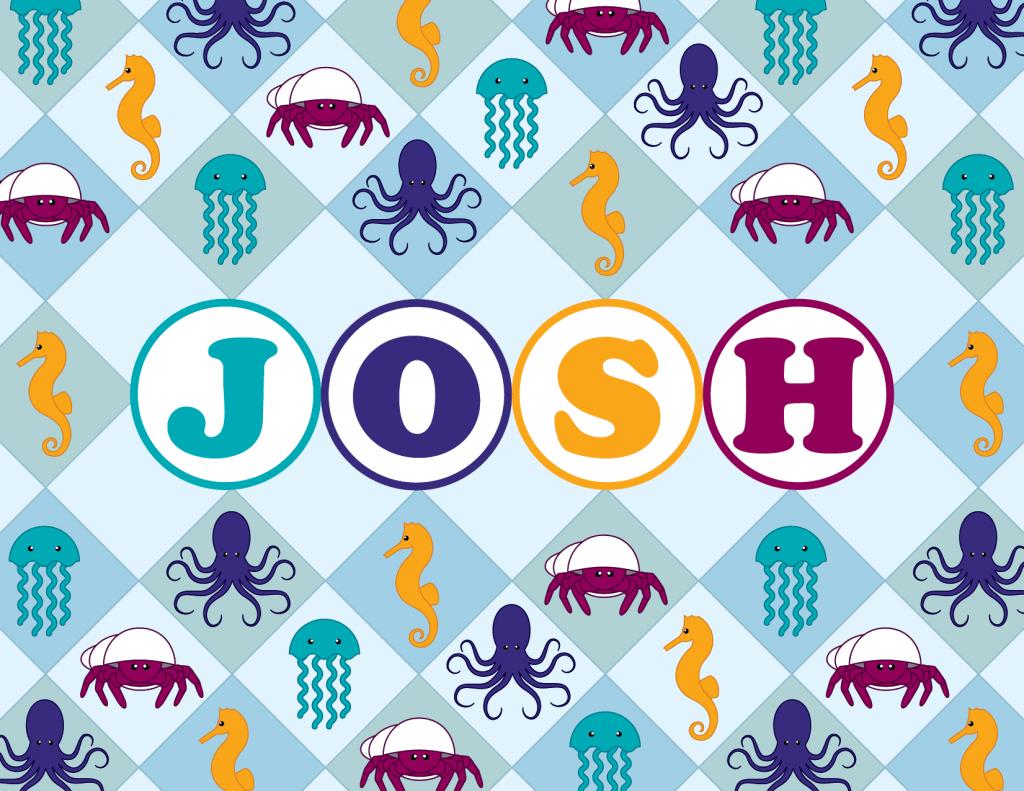 Josh's Name Plate